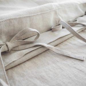 Leinen Bettwäsche - Spannbänder - natural linen