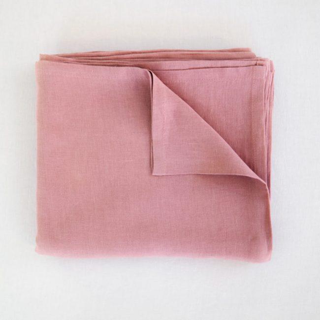 Leinenlaken Flach dusty pink